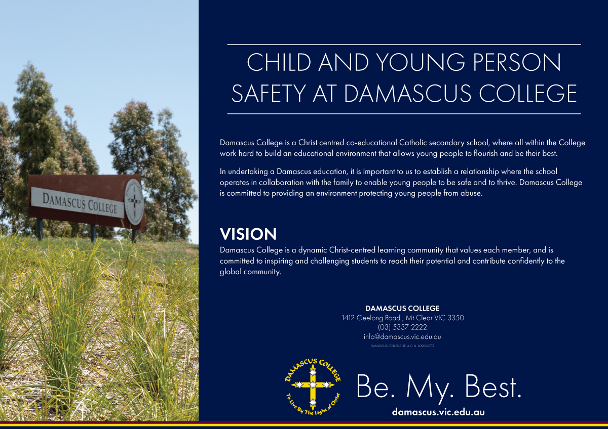 Child and Young Person Safety at Damascus College front